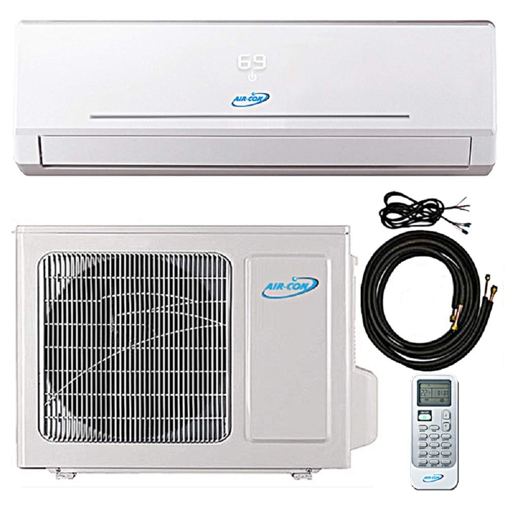 9000 Btu 21.5 SEER Ductless Mini Split Air Conditioner Heat Pump System 208-230 Volt with 15ft Kit (9000 Btu)