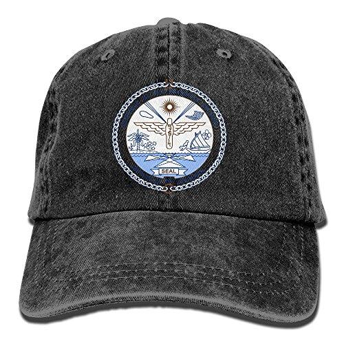 WKP0XKA Men and Women Cap Coat Of Arms Of Marshall Islands Unisex Flat Bill Hip Hop Cap Baseball Hat Head-Wear Cotton Trucker Hats (Marshall Hats)