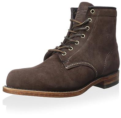 FRYE Men's Arkansas Mid Boot, Dark Brown, ...