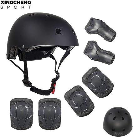 Boys Girls Kids Skate Cycling Bike Safety Helmet Knee Elbow Pad Protective Set