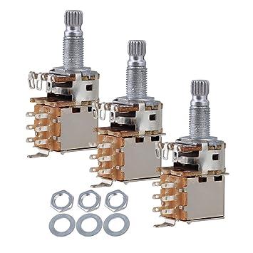 yibuy guitarra eléctrica interruptor de control de potenciómetro Ollas B500 K Push Pull oro Pack de