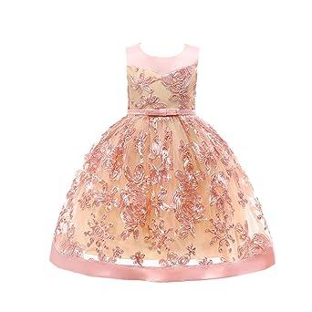 TIFIY Mädchen Kleid Blumen Princess Kleid Brautjungfer Pageant Kleid Geburtstag Baby Party Hochzeitskleid