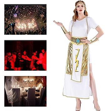 JH&MM Disfraz De Halloween Corte Medieval para Mujer Diosa Griega ...