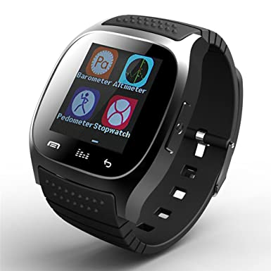 Bluetooth reloj inteligente pantalla táctil reloj de pulsera teléfono con micrófono barómetro altímetro para Android teléfono
