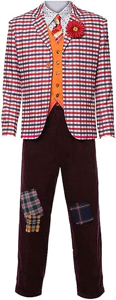 Disfraz de Jokerr 2019 para Halloween Cosplay Party Outfit Arthur Fleck chamarra pantalones chaleco playera completo conjunto de disfraz de payaso ...
