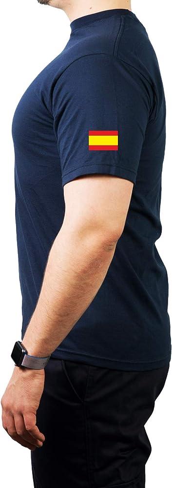 T-Shirt/Camiseta (Navy/Azul) Bomberos Tus Salvavidas, Casco Rojo, Bandera española M: Amazon.es: Ropa y accesorios