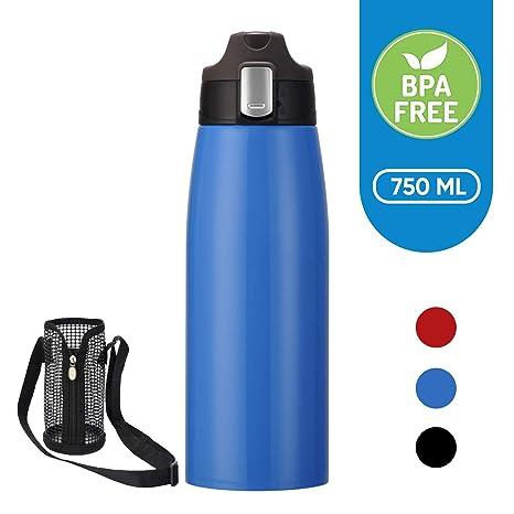 Botella Térmica Acero Inoxidable 750ml YANGLING, Aislamiento de Vacío Botella Agua, Libre De BPA Prueba de Fugas Taza Termo Café en Exteriores, Frasco ...