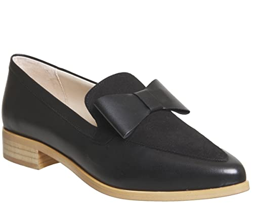 Office Frontline Pointed Bow Loafer Black Leather Black