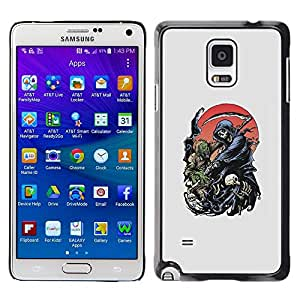 Plastic Shell Protective Case Cover    Samsung Galaxy Note 4 SM-N910    Moon Grim Reaper Death Hell Hood @XPTECH