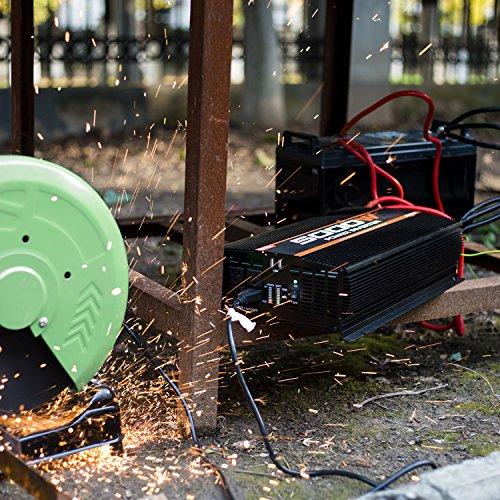 POTEK 5000W Inverter 4 AC Outlets 12V DC to 110V AC Car USB