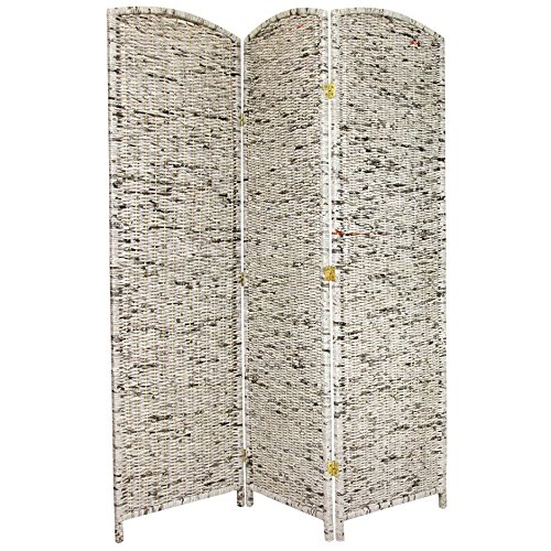 - ORIENTAL Furniture 6-Feet Tall Recycled Newspaper Room Divider, 3 Panels