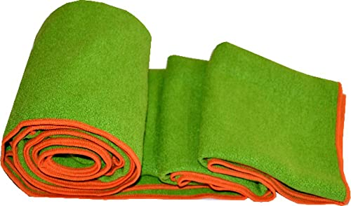 Khataland Equanimity Yoga Towel with Eco Travel Case, 100 Premium Microfiber, Extra Long Mat Size 72×24.5-Inch