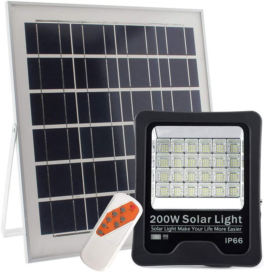 Proyector LED SOLAR KM 200W, Blanco frío, regulable