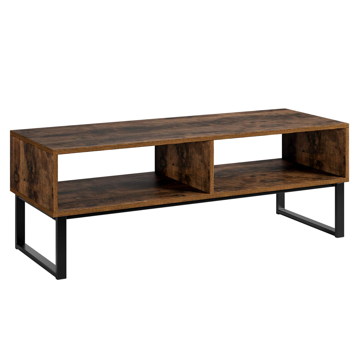 Homfa TV Stand Industrial TV Cabinet TV Console Coffee Table with Metal Stand for Bedroom Living Room