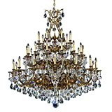 Schonbek 6967-27TK Swarovski Lighting Sophia Chandelier, Parchment Gold