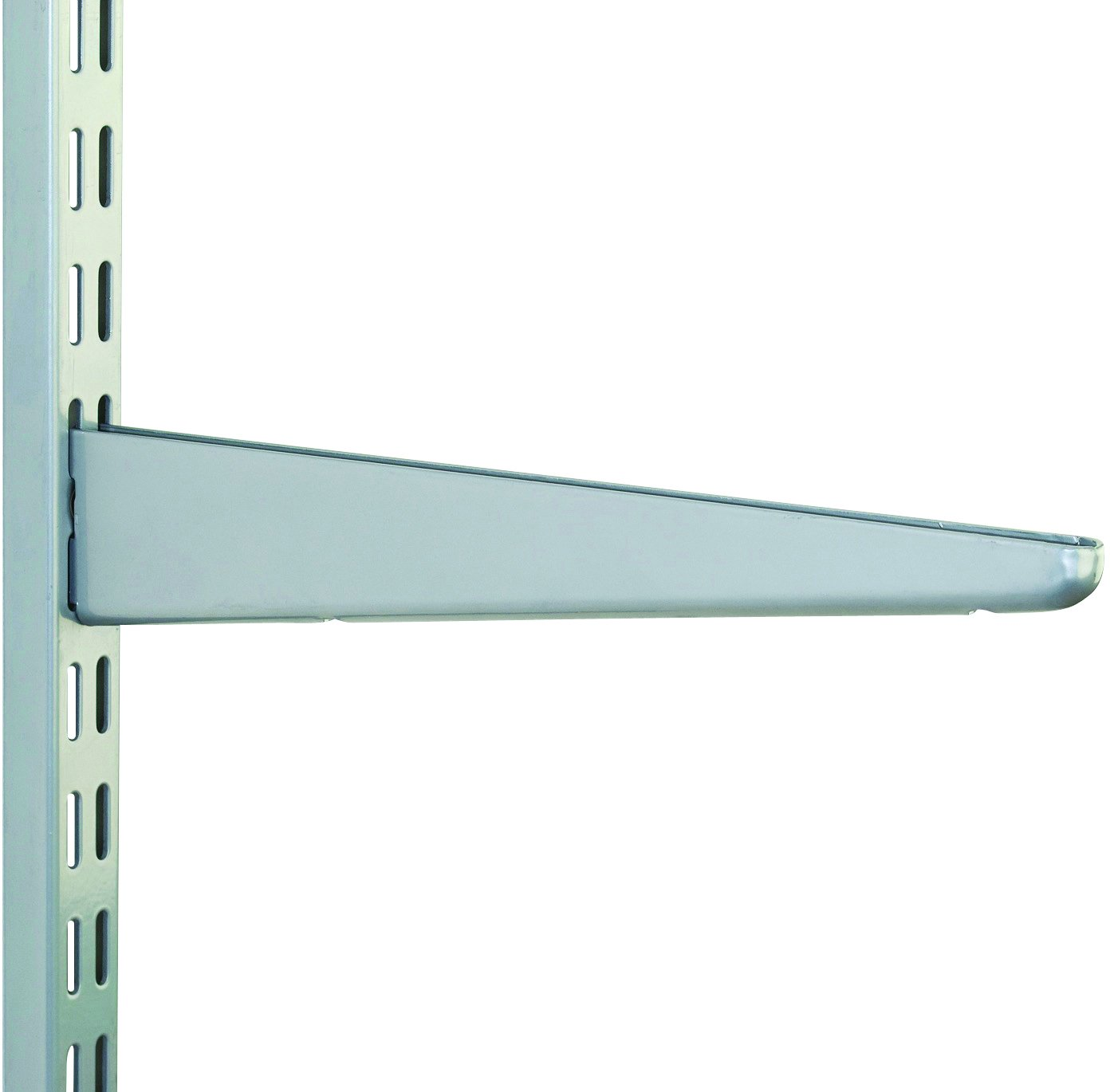 10 Pack 120mm Matt Silver Watson Twin Slot Shelving Bracket Watson Lok Twin Slot Shelving