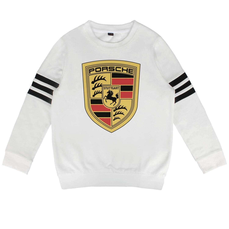 CUSOUL Kids Porsche-Logo Teen Boys Sweatshirt