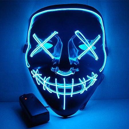 Asitlf Máscara de Halloween,Accesorios led para Fiestas ...
