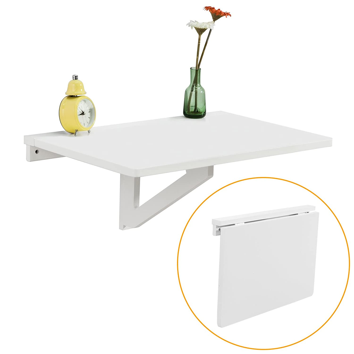Wall folding table mechanism - Sobuy Wall Mounted Drop Leaf Table Folding Kitchen Dining Table Desk Children Table 60x40cm Fwt03 W White Amazon Co Uk Kitchen Home