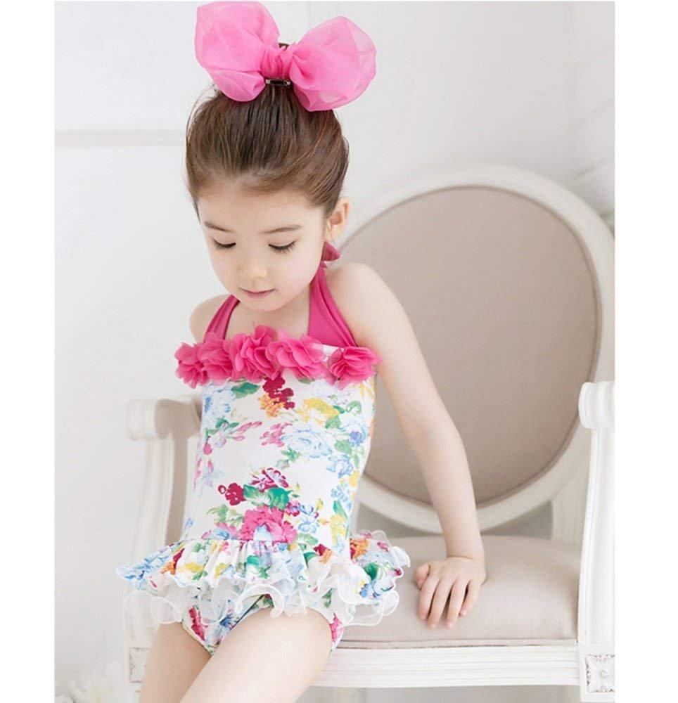 6288f4572a396 Amazon.co.jp: (モモデリ) MOMODELI 子供 用 女の子 水着 花柄 ワンピース 帽子付 海 プール (120)   ベビー マタニティ