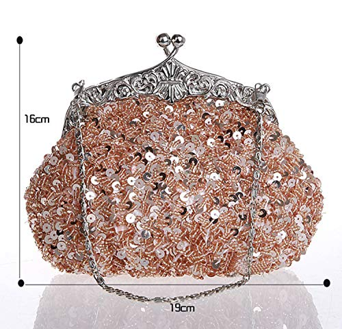 Women Prom Strap Sequin Bag Wedding Party For With Handbag Chain D Evening Beaded TAqrxPCTw