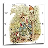3dRose Peter Rabbit in The Garden – Vintage Art – Wall Clock, 13 by 13-Inch (DPP_110164_2) For Sale
