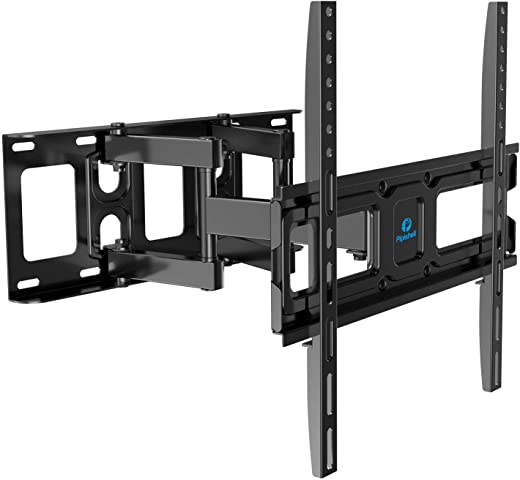 TV Wall Mount Bracket Full Motion Dual Swivel Articulating Arms Extension Tilt Rotation, Fits Most 26-55 Inch LED, LCD, OLED Flat&Curved TVs, Max…