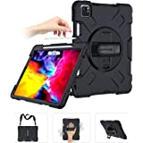 SUPFIVES iPad Pro 11 Case 2020 with Strap and Pencil Holder [Support Pencil Charging/Pairing]+Hand Strap+Shoulder Strap…