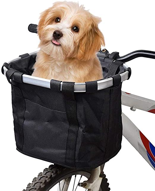 MOGOI Canasta de Bicicleta para Perros, Plegable Desmontable Pet ...