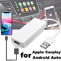 Finetoknow USB Carplay Dongle, USB Android Navigation Player Smart Link Dongle para Apple CarPlay Android Car Auto