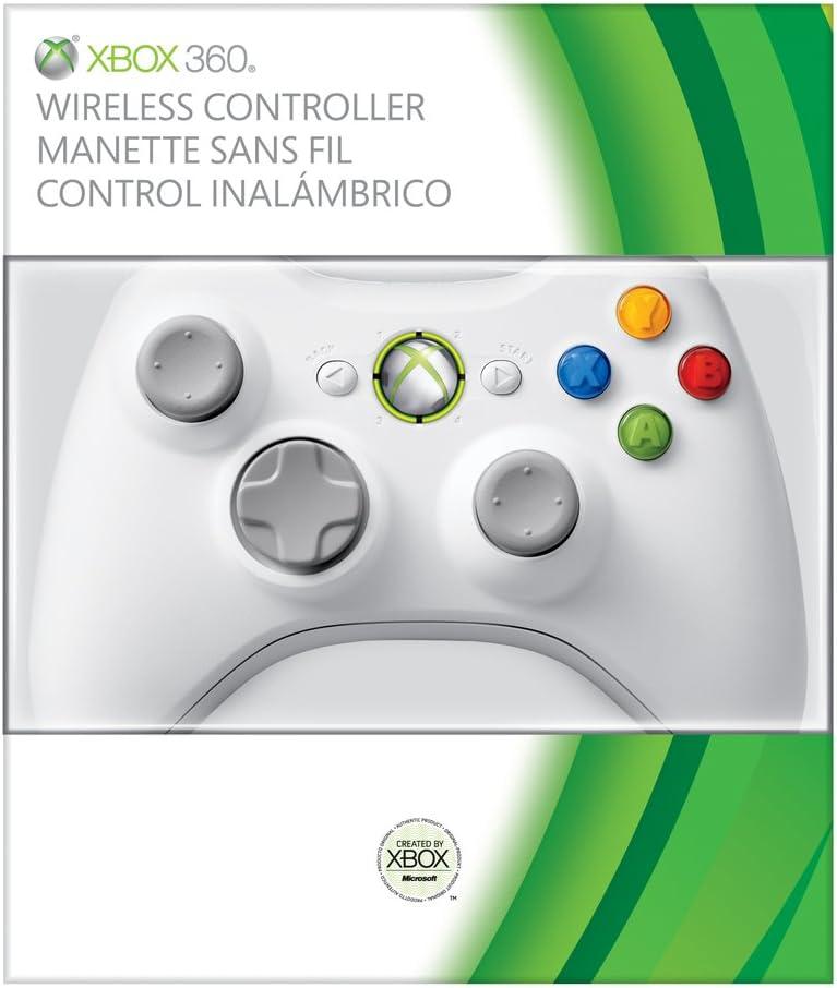Microsoft Xbox 360 Wireless Controller Gamepad Xbox Blanco - Volante/mando (Gamepad, Xbox, Atrás, Inicio, Inalámbrico, RF, Blanco): Amazon.es: Videojuegos