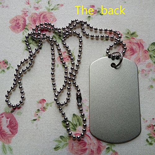 Bsll De Football Rose - Collier Dog Tag Color21