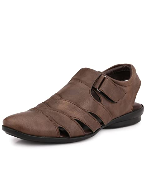 f3d9b6a5ae50 Mactree Men s Roman Artificial Leather Sandals  Buy Online at Low ...
