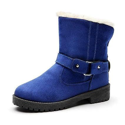 fec77e6581dcf Hy Women's Snow Boots, Winter Warm Windproof Plus Cashmere Boots,Ladies Flat  Slip-
