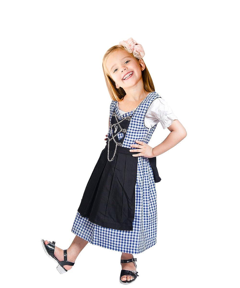 Modèle  Dik10 Enfants Dirndl 14 ans Vdik09 Enfants Dirndl, de Nombreux Modèles de Différentes Tailles (3-14 Ans) et la Couleur, en 3 Parcravates Costume de Robe Set, Robe Chemisier et Jupe