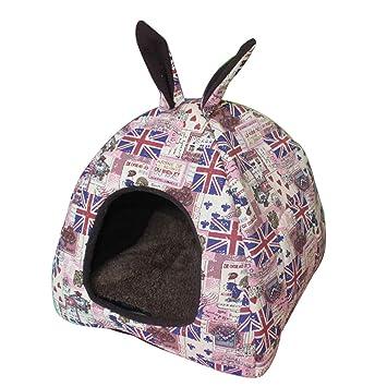 ZKOOO Lindo Gato Escondite Cueva Cálida y Cómoda Casa de Mascotas para Gatos Grandes, Gatitos, Perros Pequeños: Amazon.es: Productos para mascotas