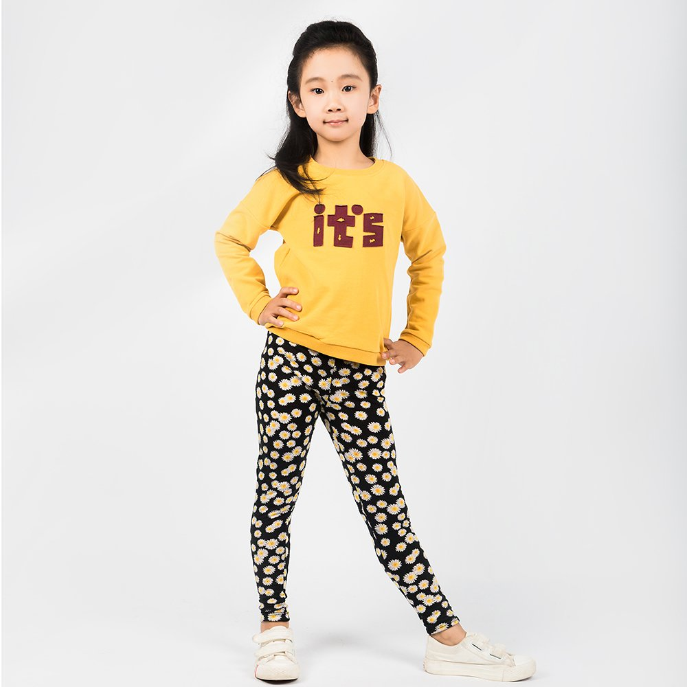 TG2609 Unisex Childrens Cotton Clothing Spring /& Autumn Pullover Sweatshirt Warm and Soft Yellow