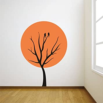 Buy Decor Kafe Home Decor Tree Sun Wall Stricker Pvc Vinyl 55 X 60