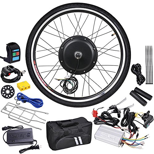"AW 26""x1.75"" Front Wheel 48V 1000W 470RPM Electric Bicycle Hub Motor Speed Control Conversion Kit PAS System"