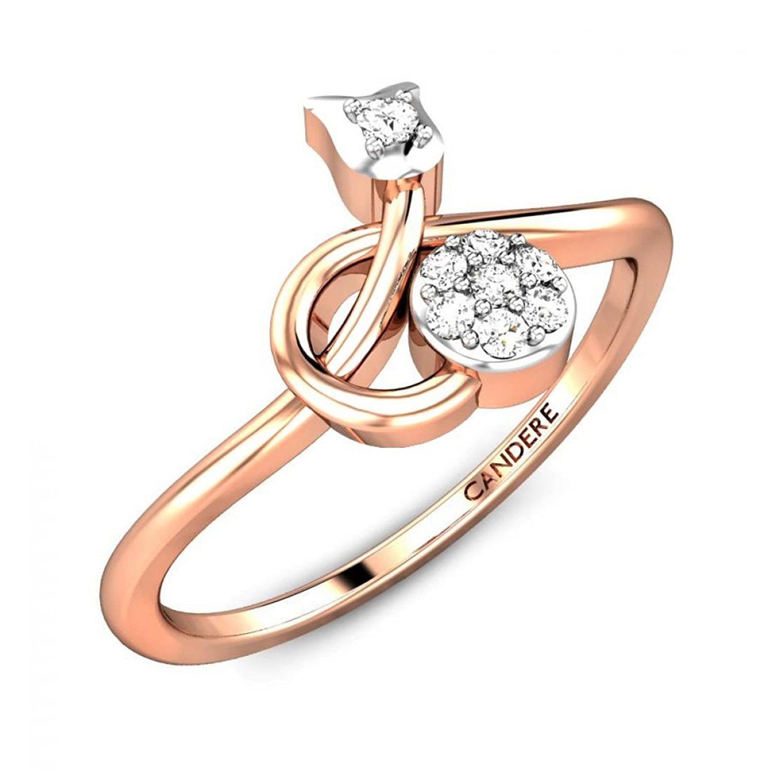 Buy Candere By Kalyan Jewellers Gold and Diamond Ring for Women ...