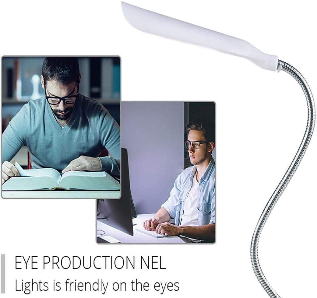 6.3inch LED Desk Lamp 360 Degree Rotating Eye Protection Reading Book Lights Desk Lamps White