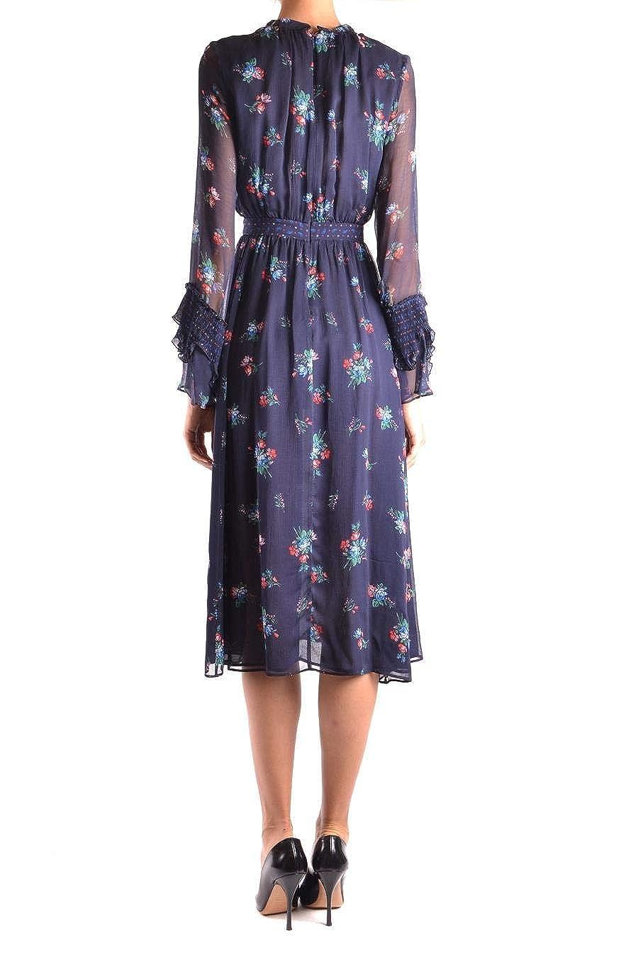 Abbigliamento Amazon Viscosa Pinko Blu it 1g13f77111er4 Vestito Donna qWBnnRZA