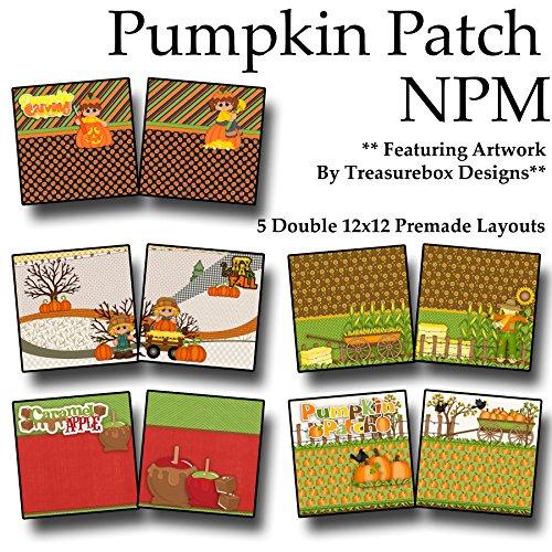 PUMPKIN PATCH Non-Photo-Mat Scrapbook Set - 5 Double Page Layouts -