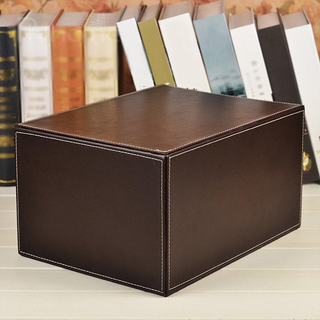 XINYALAMP Suministros de Escritorio de Cuero Armario de Almacenamiento de Archivos Cajón de Cuero Tipo de múltiples Capas: Amazon.es: Electrónica