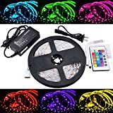 ABI 300 LED Color Changing RGB Strip Light Kit w/ Remote, Indoor, High Brightness SMD 5050, 5M/16FT