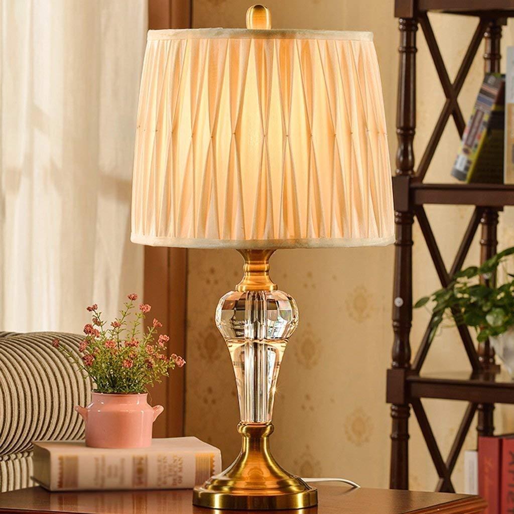 Stts Household Bedside Table Lamp, Lamp, Lamp, Decoration Desk Lamp, Studentye Protection Table Lamp, Desk Lamp-Crystal Lamp Body and Cloth Lamp Shade Cap Type B07LBFJ6ZP | Verrückter Preis, Birmingham  b28f35