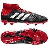 adidas Predator 18.1 FG Soccer Cleat (Kid's), 5.0 D(M) US, Core Black/Cloud White/Red