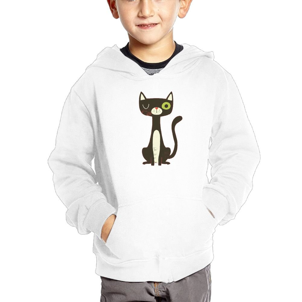 Cute Cat Customization Hooded Pocket Sweater for Children Spring//Autumn//Winter Outfit Long-Sleeved Hoodie