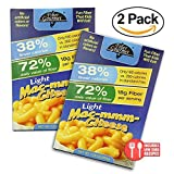 2 Pack Value: FiberGourmet Mac-mmm-Cheese, 14.5 oz., Low Carb Pasta, High Fiber