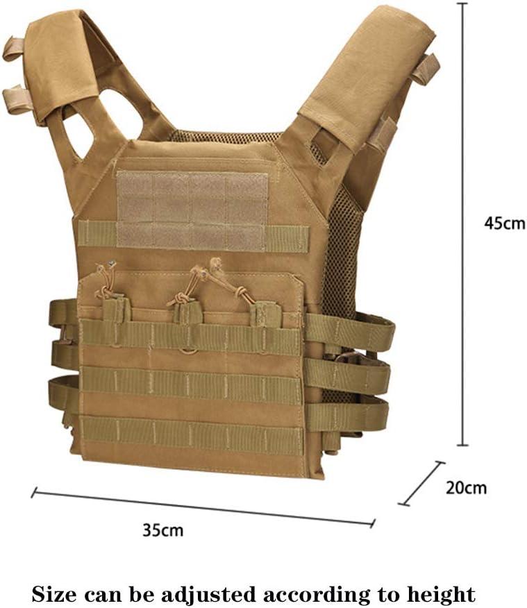/équipement De Combat Uniforme Ext/érieur Gilet Airsoft Ext/érieur Multifonctionnel ZHONGXIN Gilet Tactique Gilet Molle Respirant Ultra-l/éger